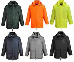 Classic Rain Jacket Waterproof Hi Vis Raincoats Sizes S - 4X