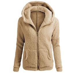 Clearance Winter Fleece Jackets,WUAI Womens Hoodie Sweater W