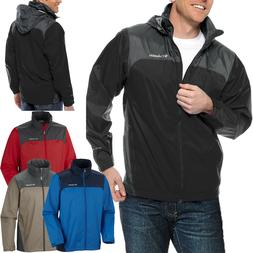 Columbia MENS WATERPROOF Rain Jacket Full Zip Coat Stowaway