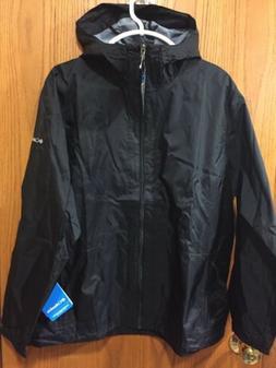 Columbia Women's Plus Waterproof Jacket Packable Hooded Si