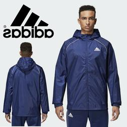 adidas Core 18 Team Rain Jacket Navy Blue Water Resistant Sp
