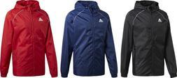 Adidas Core18 Rain Jacket Football Coat Hood Waterproof Wind
