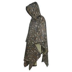 Cibeat Comfortable Durable Military Camouflage Raincoat-Wate