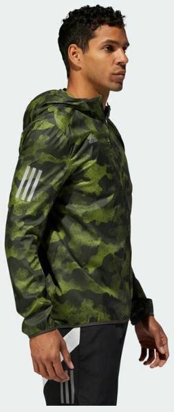 adidas DZ2031 Mens Own the Run Camo Camouflage Rain Jacket w