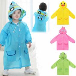 FAD Cartoon Baby Kids Toddler Boy Girl Hooded Rain Coat Rain