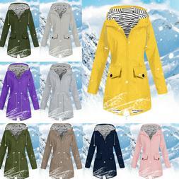 Fall Women Outdoor Jackets Rain Jacket Hooded Raincoat Outwe