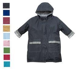 Fit Rite Boys Girls Hooded Waterproof Long Raincoat Full Len