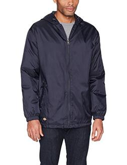 Dickies Adult Fleece-Lined Ripstop Nylon Jacket, Dark Nvy, S