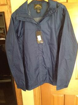 Gioberti Men's Waterproof Rain Jacket Navy Size Medium New