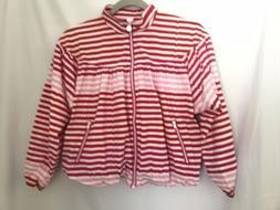 Girls Striped Rain Coat Hunter for Target Jacket Size XL 10