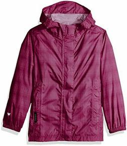 White Sierra Girls' Trabagon Packable Rain Shell Jacket Orch