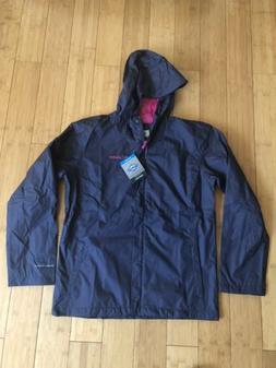 Columbia Girls Youth XL Hooded Rain Jacket Windbreaker ~ Nav