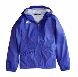 The North Face Girls Zipline Rain Jacket Dazzling Blue SIZE