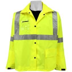 3M Global Glove GLO-1400 Hi-Vis FR Rain Jacket Flame Retarda