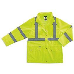 GloWear 5XL Class-3 Rain Jacket in Lime
