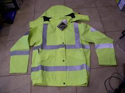 Goretex Safety Rain Jacket Reflective by Nielsen -Size : Med