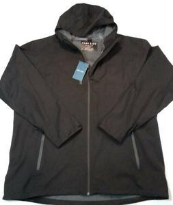 Cole Haan Grand OS Full Zip Black Rain Jacket 538AP448 Mens