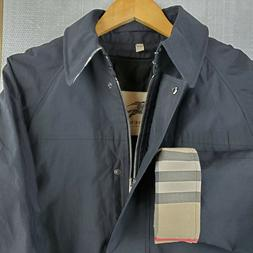 BURBERRY HATTINGLY Made in USA Size 12 Womens Black Trench C