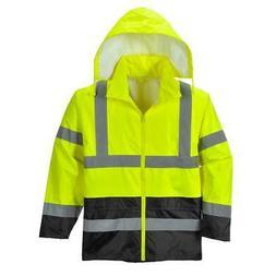 Portwest Hi-Vis Classic Contrast Rain Jacket Yellow/Black UH