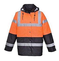 Portwest Hi Vis Contrast Traffic Jacket Visibility Work Rain