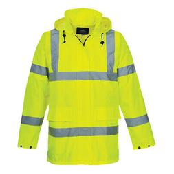Hi-Vis Lite Rain Jacket Reflective Waterproof Windproof M-3X