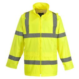 Portwest UH440 Hi-Vis Reflective Waterproof Rain Hooded Safe