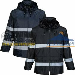 Portwest Hi Vis Waterproof Workwear Jacket Classic Iona Rain