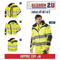 Portwest  Hi-Vis Classic Bomber Jacket With Detachable Sleev