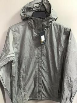 Gioberti Hooded Windbreaker Rain Jacket Mens Grey Sz Med #JA