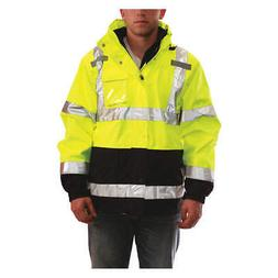 TINGLEY J24172 4XL 3-In-1 Jacket w/Hood, Hi-Vis Yellow/Green