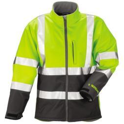 TINGLEY J25022 Breathable Rain Jacket, Hi-Vis Ylw/Grn, L
