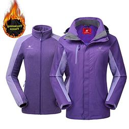 CAMEL CROWN Women's Outdoor Sports Jacket 3 in 1 Ski Waterpr