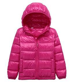 LANBAOSI Kid's Puffer Jacket Boy's Girl's Packable Hoodie Do