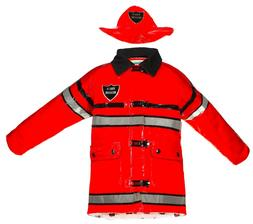 Splashy Kids Firefighter Rain Jackets & Hats - Red, Great fo