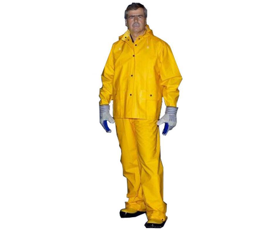 3 piece safety rain suit yellow rain