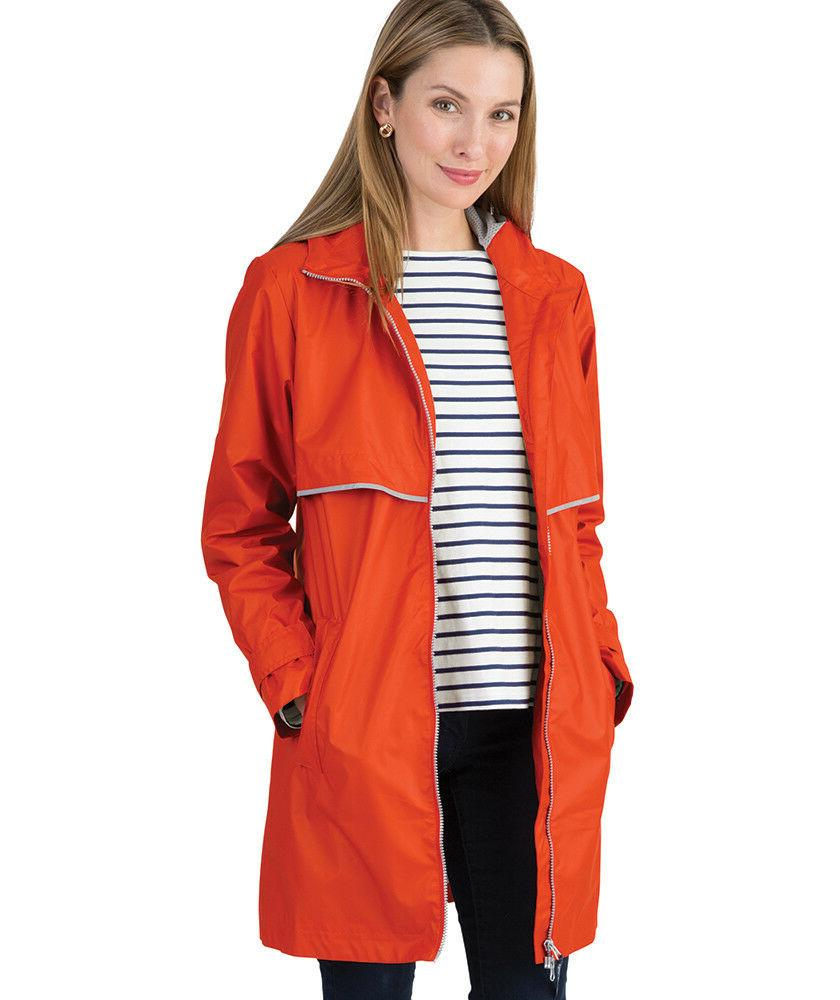 5791 womens new englander rain jacket orange