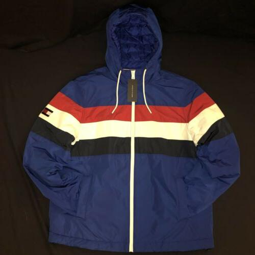 90s retro classic zip up rain jacket