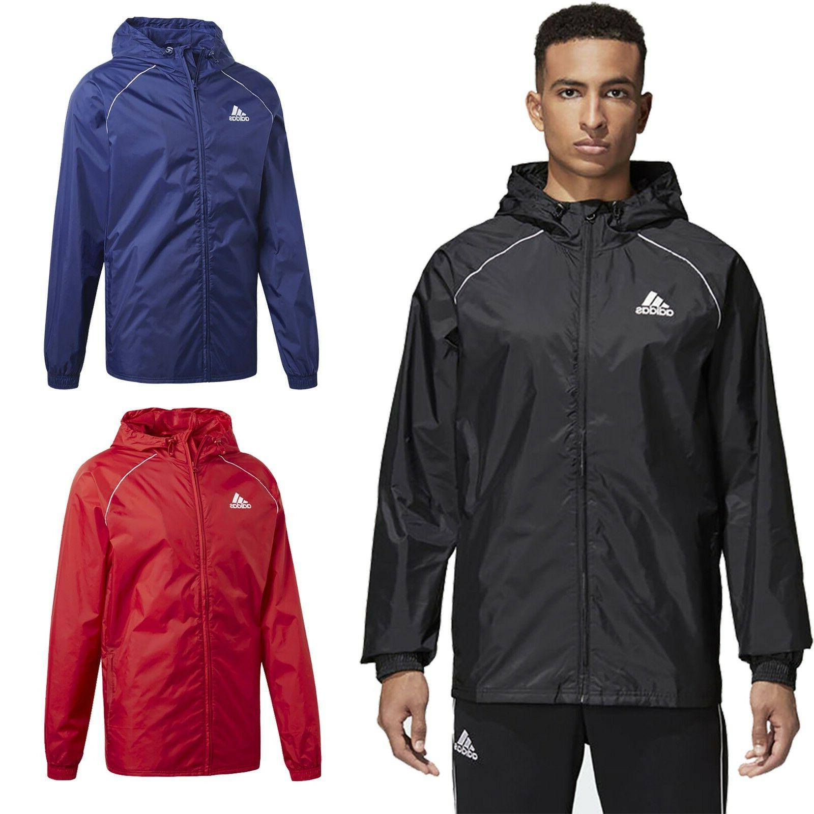 Adidas Mens Lightweight Rain Jacket Waterproof Coat Top Hood