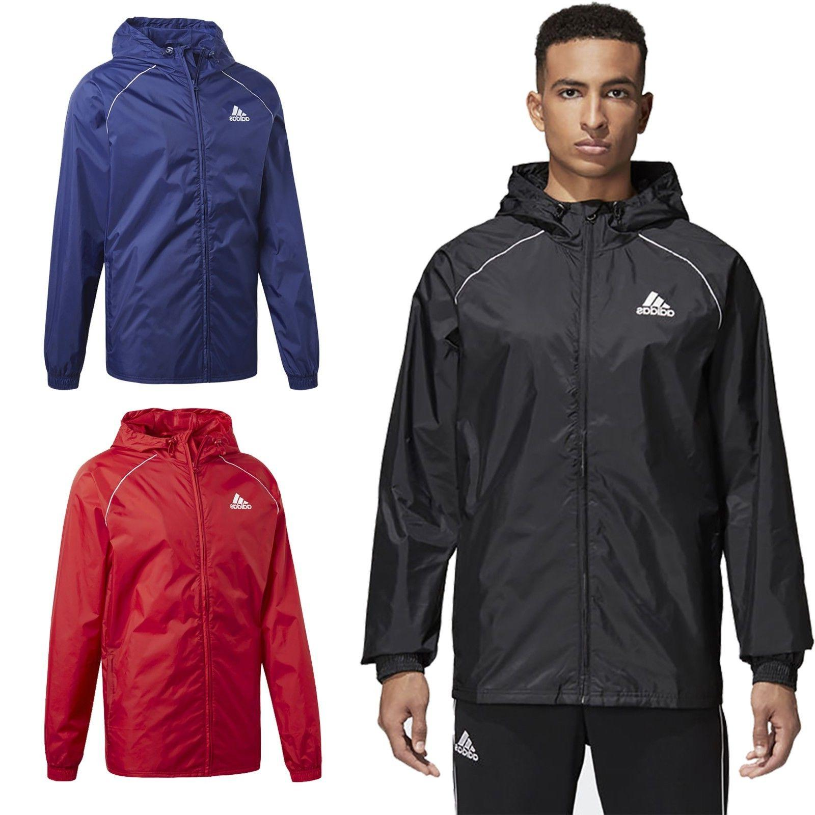 Adidas Mens Lightweight Rain Jacket Waterproof Coat Top