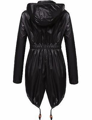 Beyove Women's Packable Outdoor Hoodies Rain Jacket