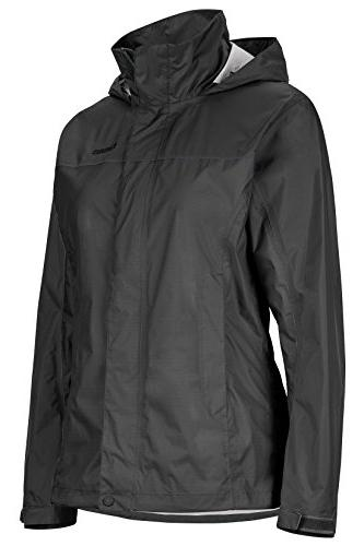Marmot PreCip Lightweight Waterproof Rain Jacket, Jet Black,