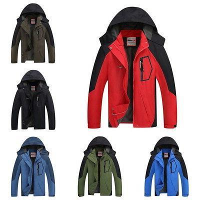 Men Waterproof Outdoor Hoodie Coat Jacket Winter Warm Shell