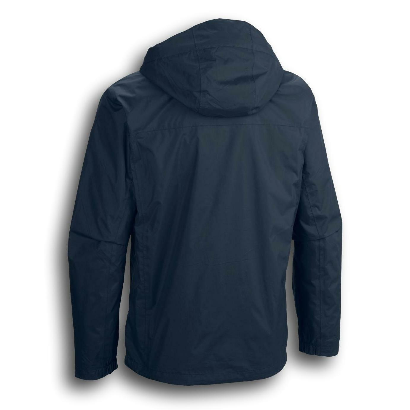 New Pointe waterproof hooded rain jacket coat Tall