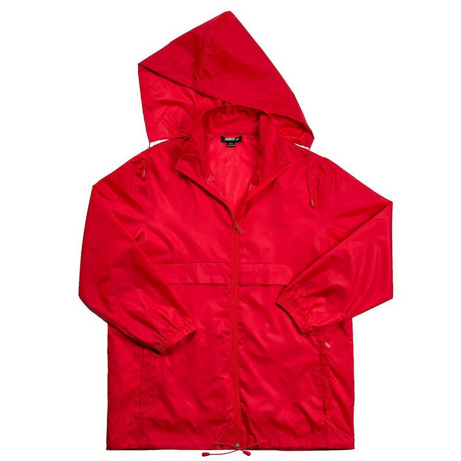 Packable Women's Rain Coat Totes Anorak Poncho Jacket w/ Hoo