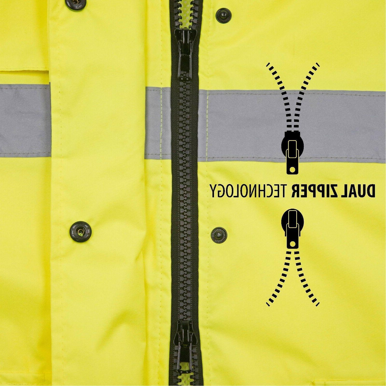 Safety Rain Green Raincoat Rainjacket w