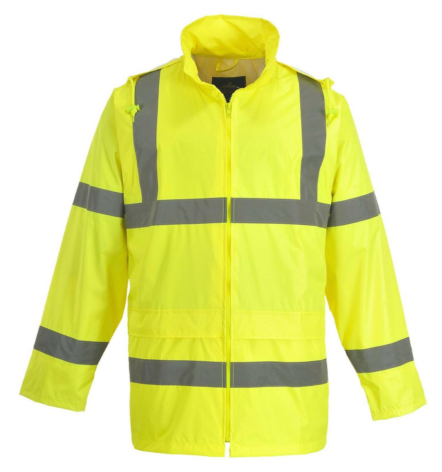 Safety Green Raincoat w Hood