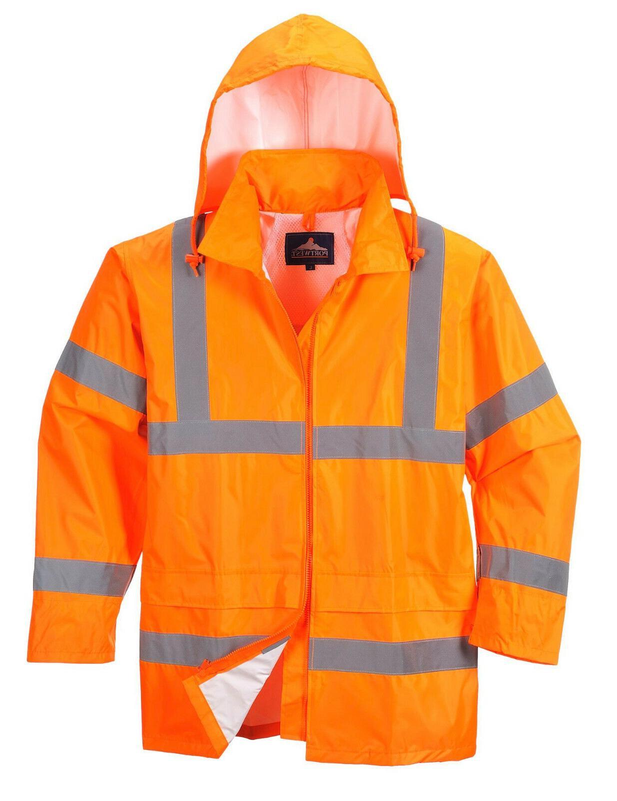 Safety Jacket Green Hi-Vis Raincoat
