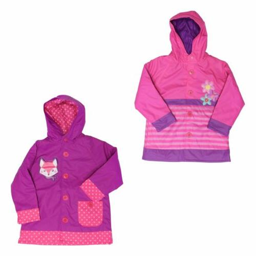 Western Chief Hooded Rain Coat for Girls - Water Resistant J