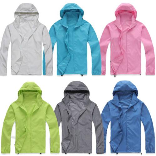 Womens Mens Rain Coat Jogging Hiking Waterproof Lightweight Jackets