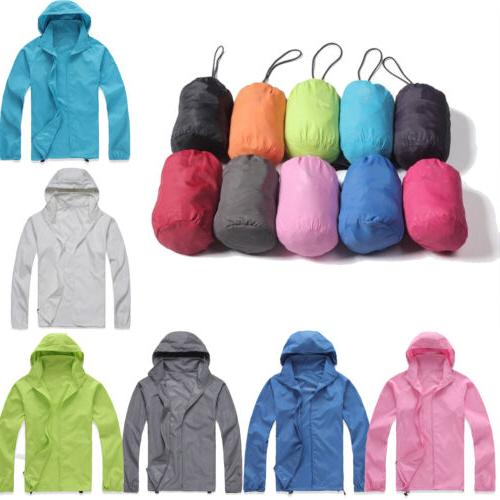 Womens Mens Rain Coat Jogging Hiking Waterproof Windproof Li